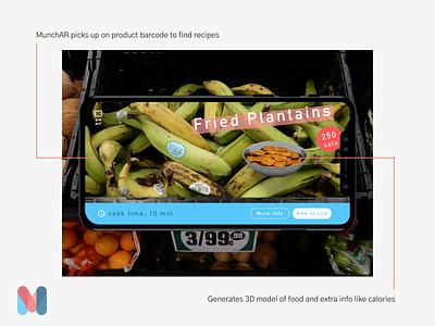 AR Grocery Shopping App playful interface designer creative ar augmented reality branding mobile design ux ui