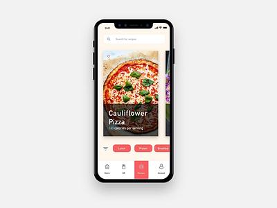 MunchAR Recipes Page page interface ios designer creative branding mobile design ux ui