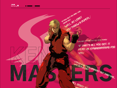 Ken Masters Type Poster vector illustration adobe typography landing clean page playful interface designer branding creative mobile design