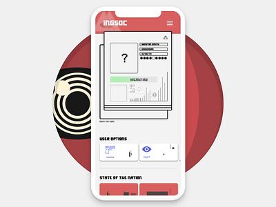 1984 meets Bladerunner meets UI vector basketball product google illustration adobe clean typography landing page ios playful interface designer branding creative mobile design ux ui
