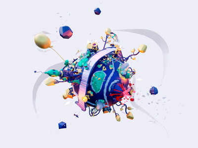 Small planet rendered in Cycles low poly lowpoly render 3d model art vrart low-poly diarama planet virtualreality xr illustration blender design vr 3d