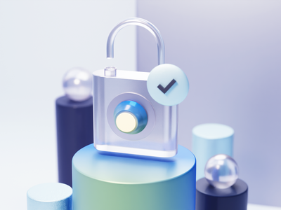 Unlock 3d icon render icon lock cycles icons virtualreality xr ar illustration blender design ui vr 3d