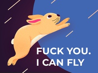 Flying bunny.
