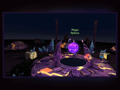 Magic Sphere flask book hat sphere magical magic ux virtual reality unity3d unity virtualreality xr vr design 3d