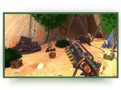 Grappling Gun VR substance painter blender immersive procedural rope arrow gun vr design unity vr 3d