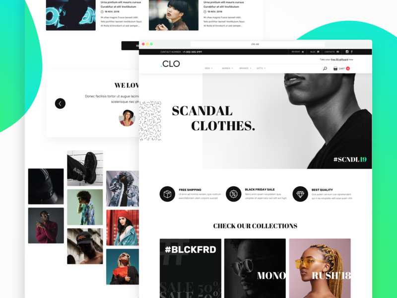 E-commerce concept of clothes store hello dribble website concept website design web webstore store fashion commercial future landing layout concept clothes e-commerce shop ux ui