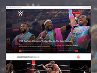WWE Home Page Redesign Concept