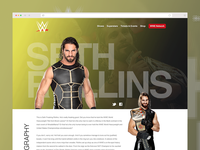 WWE Roster Page Redesign Concept