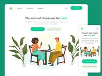 FinTech startup landing page