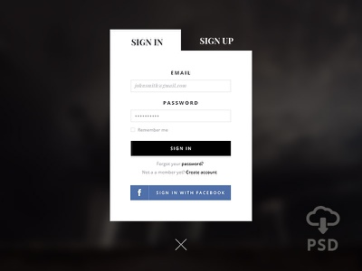 SignUP Form - Free PSD free psd signup form