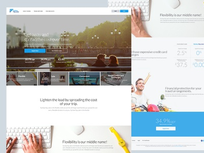 Fnpl travel scroll one page website homepage onepager finance