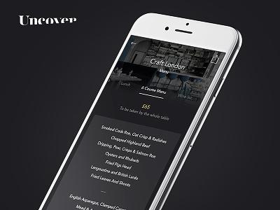 Uncover Menu app restaurant menu menu app menu