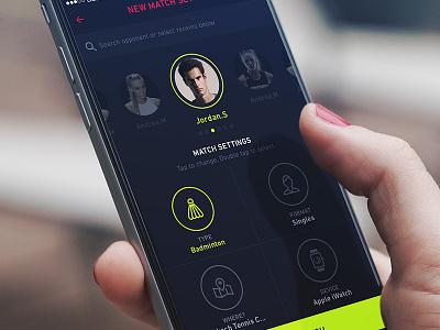 Tennis match SetUp score keeping graph app score tennis