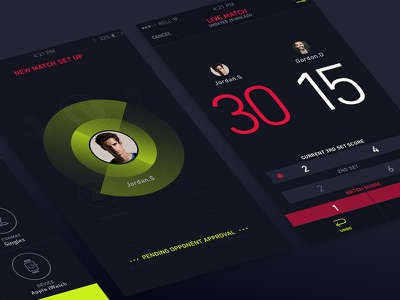 Pulse live match setup score keeping graph app score tennis