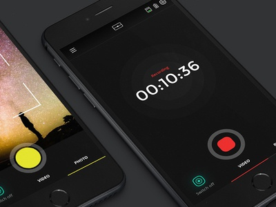 Capture, Record view. App For 360 degrees camera