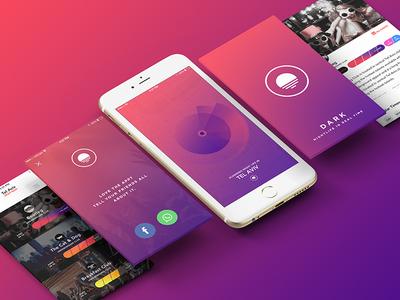 Dark, Real Time Nightlife app