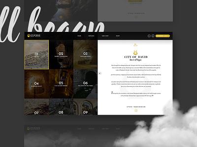 City Of David black full screen fullscreen website website design