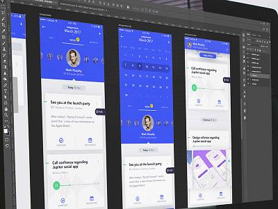 Reach1 contacts feed calendar blue app