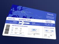 DailuUI 024 - Boarding pass