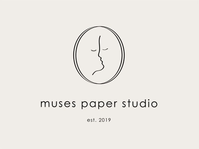 Muses Paper Studio Logo wedding invitation branding logo