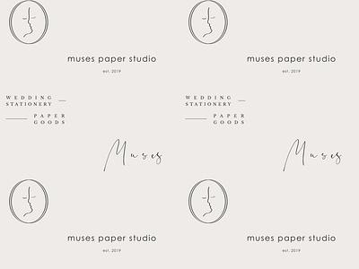 Muses Paper Studio Pattern logo branding
