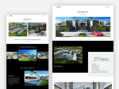 Estate Page - AKAI Estates website website design web design