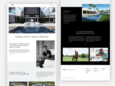 Home Page - AKAI Estates home page website website design web design