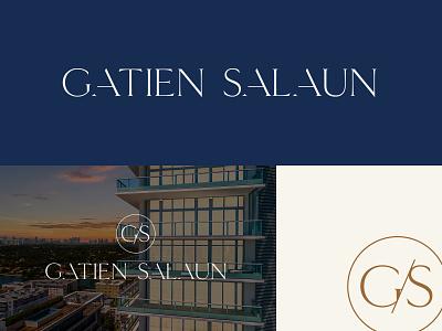 Gatien Salaun - Luxury Real Estate wordmark luxury logo luxury realtor real estate logo real estate miami beach miami branding logo