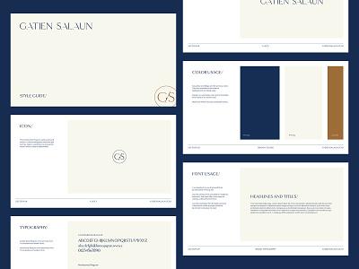 Gatien Salaun - Style Guide luxury design luxury real estate logo branding design branding style guide