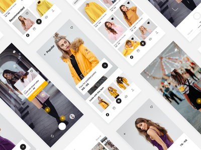 E-commerce with AI yellow scanning smart colors usability mobile react native shopping product ux ui fashion deep learning machine learning artificial intelligence interaction design shop e-commerce app
