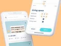Property rent app: property list and filters
