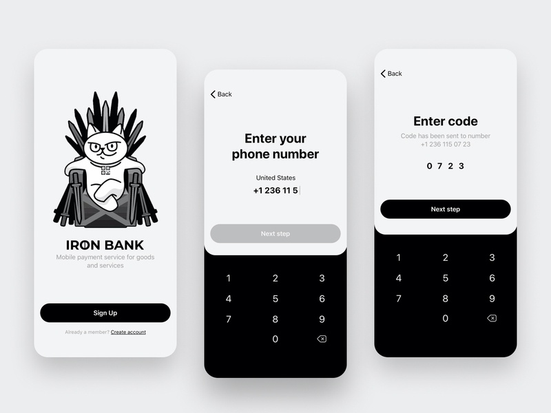 Iron Bank - Sign Up