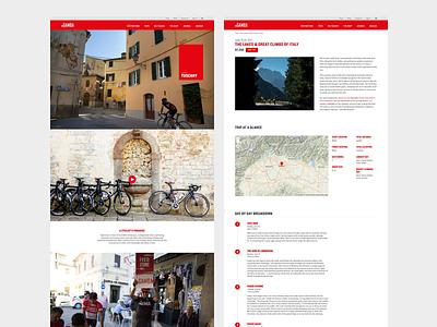 Ingamba Tuscany Shot 071417 website web design web ux ui travel responsive photography digital design business bike