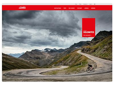 Ingamba Shot 071817 website web design web ux ui travel responsive photography digital design business bike