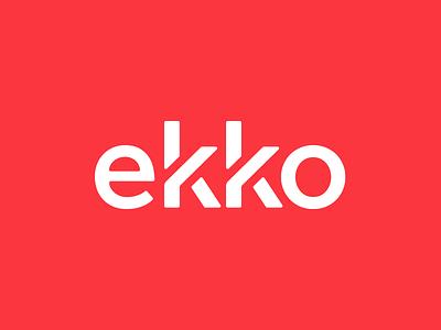 Ekko Logo typography type logotype logo identity design clean branding brand
