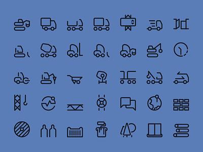 ProperGate icon set 1 identity blue web app building construction set icon