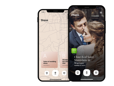 MyWeding iOS app wedding app wedding uxdesign uxd ux ui responsive mobile iphone ios design calendar apps application app