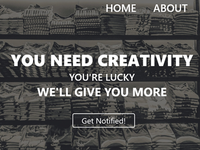 T-Shirt Store Landing Page