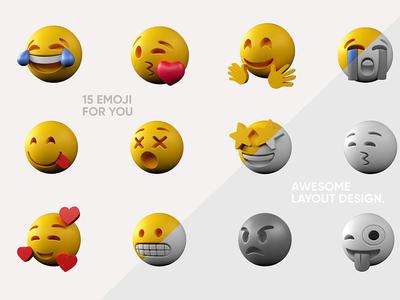 Emoji 3D models, @advertising @3d illustration @cinema4d @c4d