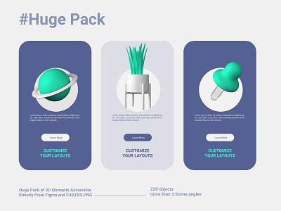 Big Pack, More than 220 3D Objects, C4D, FBX, Figma, PNG concept icons ux ui webdesign website 3dmodeling 3dmodels @visual @3d 3d illustration @advertising @cinema4d @design @c4d