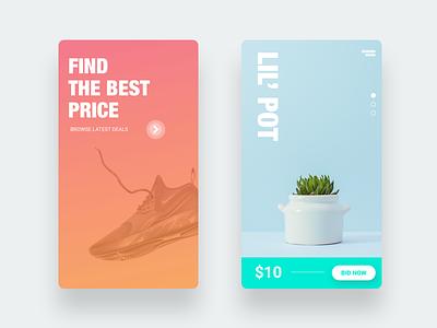 Best Deal App minimalist minimal minimalism apple app app design ios gradient flat ux ui