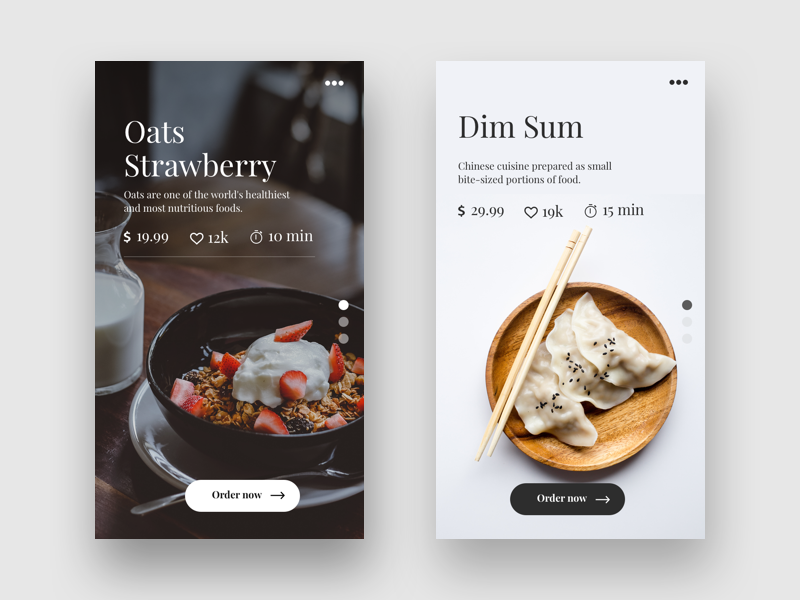 Restaurant app concept food app app design android ios ux ui