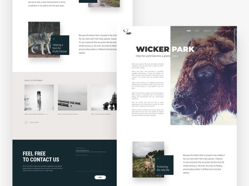 Landing page DailyUI minimalism minimal flat creative portfolio web landing page ux ui