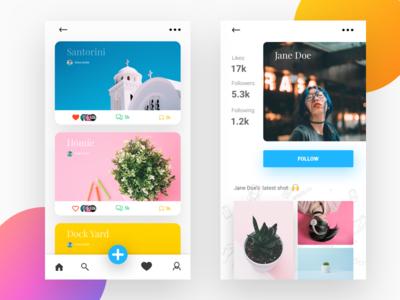 Instaram-like app concept