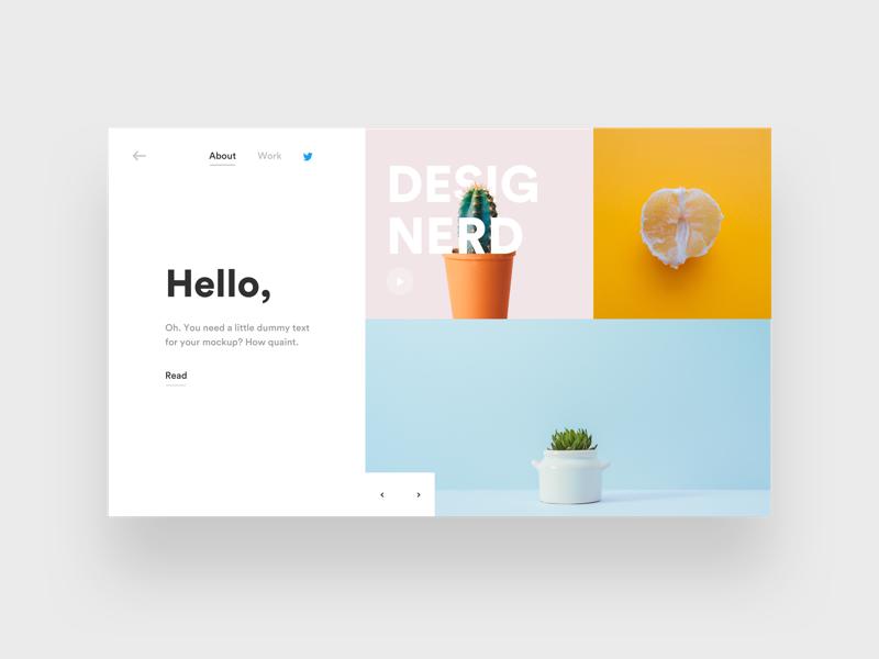 Designerd 2.0 flat design color blog user experience user interface pastel landing page ux design ui design ux ui
