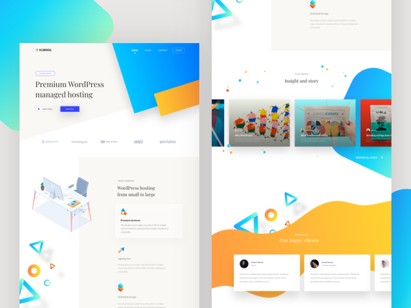 Dailyui 06 ux design ui design web design gradient card landing page