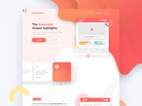 StreamRecap Landing Page - Concept