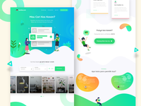 Mamikos landing page concept
