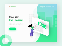 Mamikos landing page concept #2