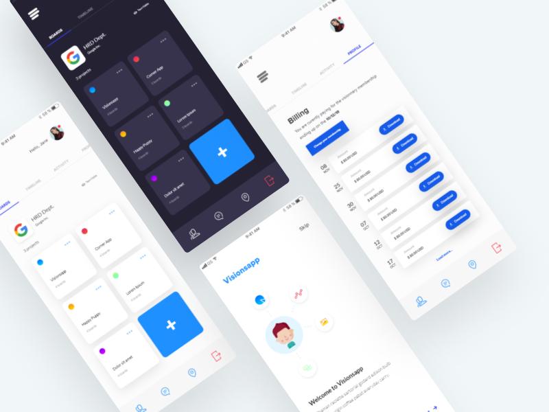 Visual Exploration - SaaS App Concept application minimalist web app saas blue white minimalism minimal app flat app design minimal app